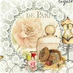 Papel Scrap Decor Folha Simples 15x15 Corpete e Perfume Lscxv-011 - Litoarte