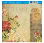 Papel Scrap Decor Folha Simples 15x15 Itália Sdsxv-079 - Litoarte