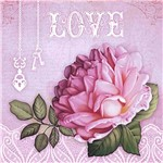 Papel Scrap Decor Folha Simples 15x15 Love SDSXV-048 - Litoarte