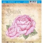 Papel Scrap Decor Folha Simples 15x15 Rosas Doçura Sdsxv-068 - Litoarte