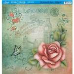 Papel Scrap Decor Folha Simples Flores Ss-090 - Litoarte