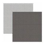 Papel Scrapbook Básico - KFSB453 - Poá Pequeno Preto - Toke e Crie