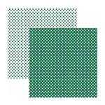 Papel Scrapbook Básico - KFSB450 - Poá Pequeno Verde - Toke e Crie