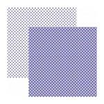 Papel Scrapbook Básico - KFSB455 - Poá Pequeno Roxo - Toke e Crie