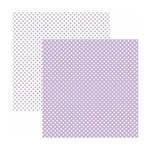 Papel Scrapbook Básico - KFSB456 - Poá Pequeno Lilás Claro - Toke e Crie