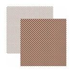 Papel Scrapbook Básico - KFSB458 - Poá Pequeno Marrom - Toke e Crie