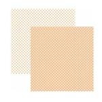 Papel Scrapbook Básico - KFSB463 - Poá Pequeno Coral - Toke e Crie