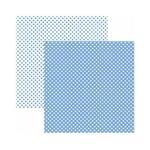 Papel Scrapbook Básico - KFSB465 - Poá Pequeno Azul Serenity