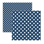 Papel Scrapbook Básico - KFSB472 - Poá Grande Azul Marinho - Toke e Crie