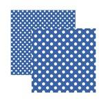 Papel Scrapbook Básico - KFSB471 - Poá Grande Azul Royal - Toke e Crie