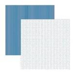 Papel Scrapbook Básico - KFSB394 - Multitons Poá Listras Diversão no Gelo - Toke Crie