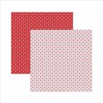 Papel Scrapbook Básico Vermelho Fundo Branco Estrelas Kfsb401 - Toke e Crie By Ivana Madi