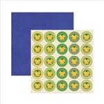 Papel Scrapbook Brasil Medalhão Camiseta Sdf412 Toke e Crie