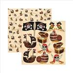 Papel Scrapbook Coleções Piratas Recortes Sdf515 - Toke e Crie By Ivana Madi