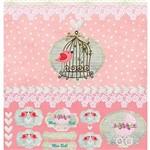 Papel Scrapbook com Gliter Bebê LSCG-03 - Litocart