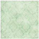 Papel Scrapbook com Gliter Litoarte SG-004 30,5x30,5cm Floral Verde