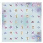 Papel Scrapbook com Gliter Litoarte SG-007 30,5x30,5cm Peixes Fundo do Mar