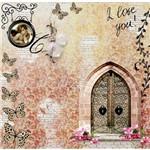 Papel Scrapbook com Gliter Love LSCG-11 - Litocart