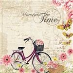 Papel Scrapbook com Glitter Bicicleta com Flores Lscg-017 - Litocart
