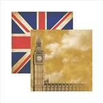 Papel Scrapbook Destinos Londres Sdf392 Toke e Crie