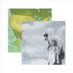 Papel Scrapbook Destinos Nova York Sdf390 Toke e Crie