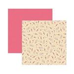 Papel Scrapbook DF SDF524 Rosas e Botões Arabescos