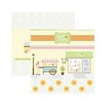 Papel Scrapbook DF SDF658 Sweet Candy Cenário e Banderolas