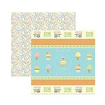 Papel Scrapbook DF - SDF659 - Sweet Candy Fitas e Rótulos