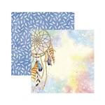 Papel Scrapbook DF SDF781 Fitro dos Sonhos Aquarelado