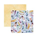 Papel Scrapbook DF - SDF785 - Fitro dos Sonhos Penas