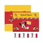Papel Scrapbook DF SDFD002 Minnie 1 Cenário e Bandeirolas