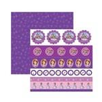 Papel Scrapbook DF SDFD051 Princesa Sofia 1 Selos e Tags