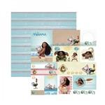 Papel Scrapbook DF - SDFD090 - Moana 2 Tags - Toke e Crie