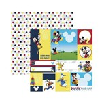 Papel Scrapbook DF - SDFD106 - a Casa do Mickey 2 Tags