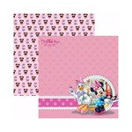 Papel Scrapbook DF - SDFD107 a Hora do Chá Minnie 2 Paisagem