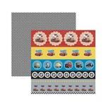 Papel Scrapbook DF - SDFD115 - Carros 1 Selos e Tags