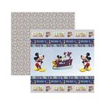 Papel Scrapbook DF - SDFD119 - a Casa do Mickey 1 Fitas e Rótulos - Toke e Crie