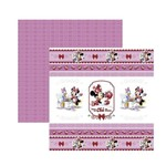 Papel Scrapbook DF - SDFD126 - a Hora do Chá com a Minnie 1 Fitas e Rótulos