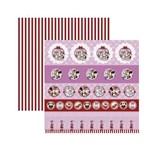 Papel Scrapbook DF - SDFD128 - a Hora do Chá com a Minnie 1 Selos e Tags - Toke e Crie