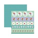 Papel Scrapbook DF - SDFD85 - Ariel 1 Selos e Tags - Toke e Crie