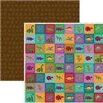 Papel Scrapbook Dinossauros Selos Sdf697 - Toke e Crie By Flavia Terzi