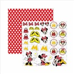Papel Scrapbook Disney Minnie Mouse Recortes Sdfd009 - Toke e Crie