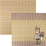 Papel Scrapbook Dupla Face 30,5x30,5cm Abelha e Listras Lscd-092 - Litocart