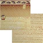 Papel Scrapbook Dupla Face 30,5x30,5cm Congratulations Lscd-059 - Litocart
