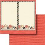Papel Scrapbook Dupla Face 30,5x30,5cm Flores Lscd-373 - Litocart