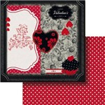 Papel Scrapbook Dupla Face 30,5x30,5cm Happy Valentine's Day Lscd-388 - Litocart