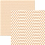 Papel Scrapbook Dupla Face Básico 30,5x30,5cm Chevron Coral Kfsb423 - Toke e Crie By Mariceli