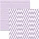 Papel Scrapbook Dupla Face Básico 30,5x30,5cm Chevron Lilás Claro Kfsb416 - Toke e Crie By Mariceli
