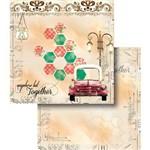 Papel Scrapbook Dupla Face Carro Antigo Lscd-368 - Litocart