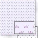 Papel Scrapbook Dupla Face Coroas Sd-451 - Litoarte